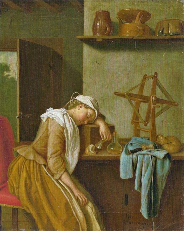 Sifting the Past has just posted The Sleeping Kitchen Maid by Peter Jakob Horemans from 1765