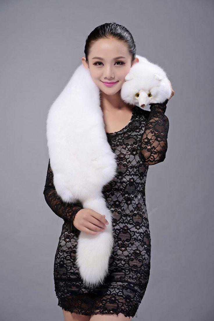 Fox-fur-scarf-fashion-Women-Whole-fox-fur-shawl-winter-warm-tippet ...