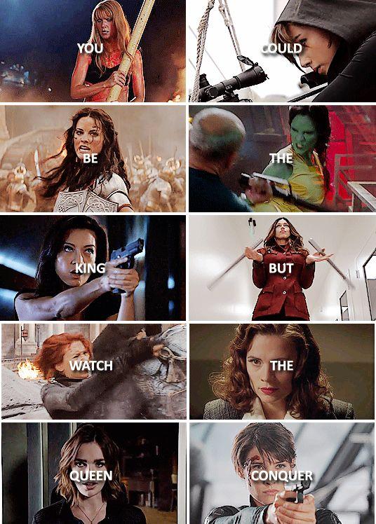 Marvel ladies: Pepper Potts, Daisy Johnson, Lady Sif, Gamora, Melinda May, Bobbi…