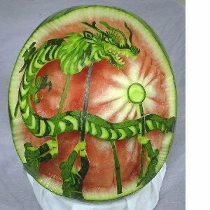 Best Amazing Watermelon Carvings Images On Pinterest Carved - Incredible sculptures carved watermelon