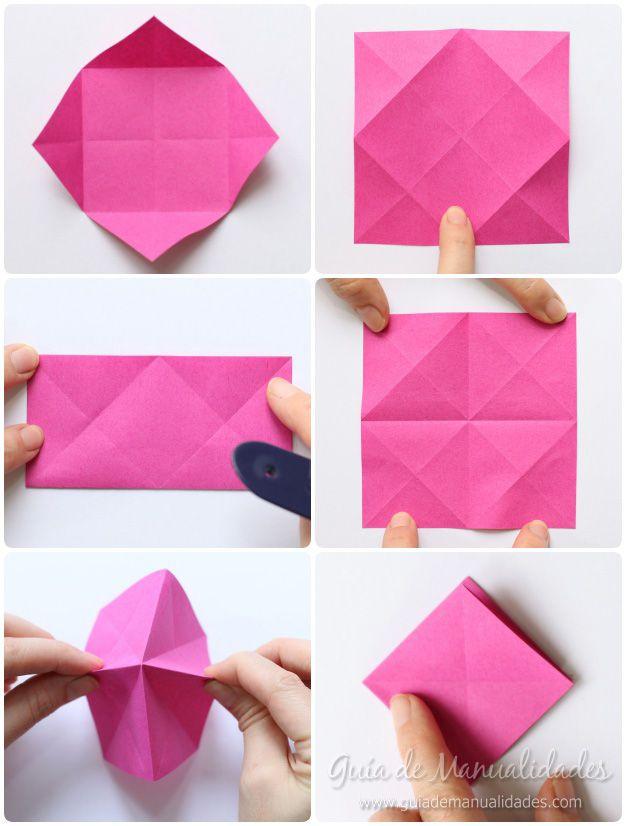 Rosas de origami en minutos   Origami o figuras de papel ...