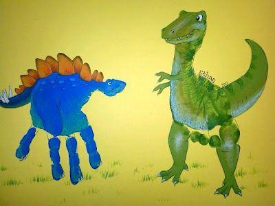 hand print and foot print dinosaurs