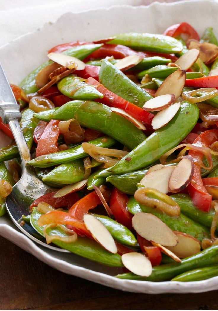 Sugar Snap Pea Sauté -- Colorful, crisp and on the dinner table in ...