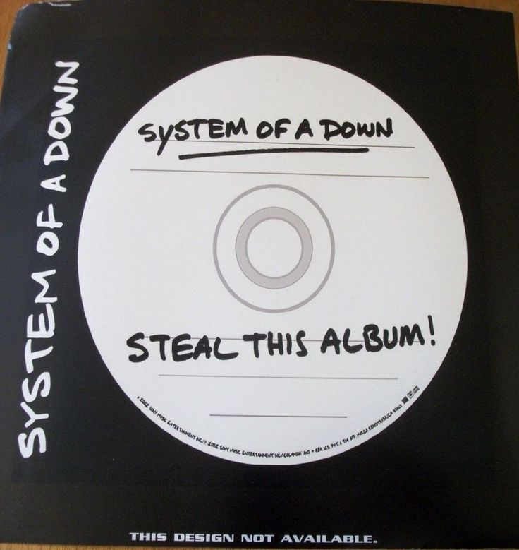 """System Of A Down / Steal This Album / Promo Poster / 13.5"""" X 13.5"""" / Innervision"""