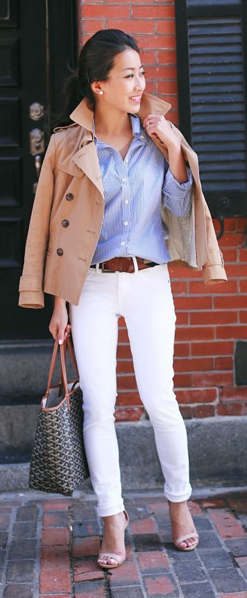 White Jeans Styling by Extra Petite