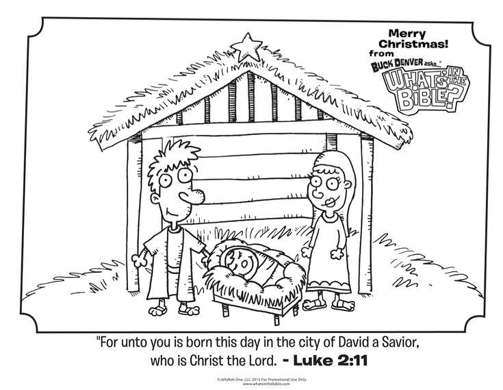 Luke 2 11 Christmas Coloring Page Kid S Church Sunday