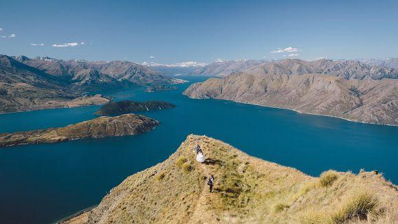 On location with Shalon & Carl for their wedding shoot in Wanaka, New Zealand. Coromandel Peak, Mount Roy.