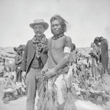 Aby Warburg with a Hopi dancer in Arizona in 1896. The Warburg Institute.