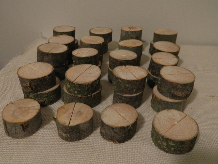 Rustic Wood Wedding Placecard Holders (50). $52.25, via Etsy.