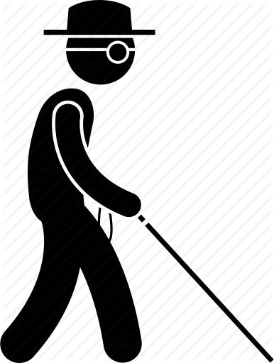 Image result for blind man WALKING clipart (With images ...
