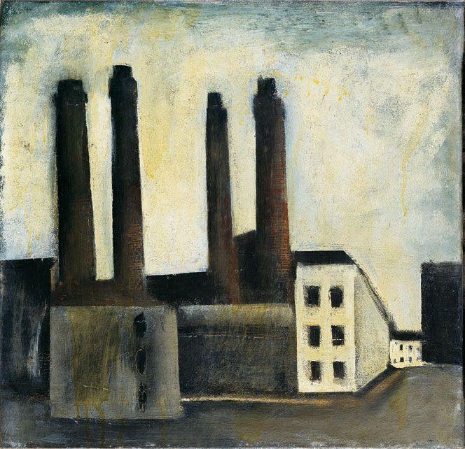 "Mario Sironi (Italian, 1885-1961) - ""Paesaggio urbano"" (Urban landscape), 1927"