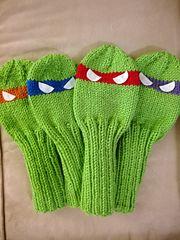 Ravelry: Teenage Mutant Ninja Turtle Golf Club Covers pattern by Sundae's Shop