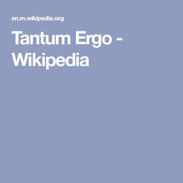 Tantum Ergo - Wikipedia