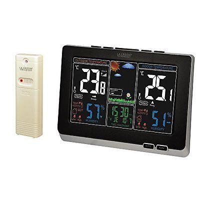La Crosse Technology WS6828-BLA - Estación meteorológica, color negro NUEVO