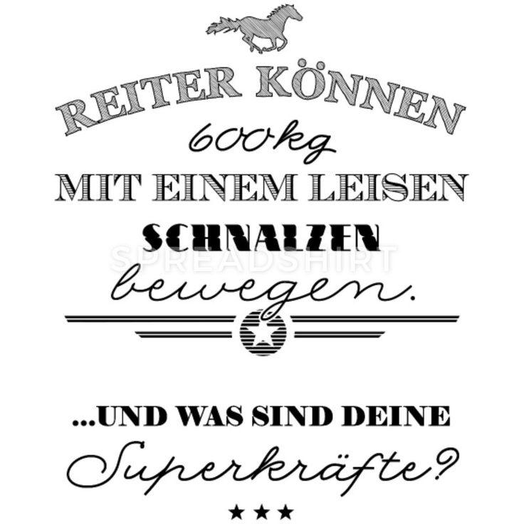 Superkräfte des Reiters – schwarze Edition Thermobecher – Weiß