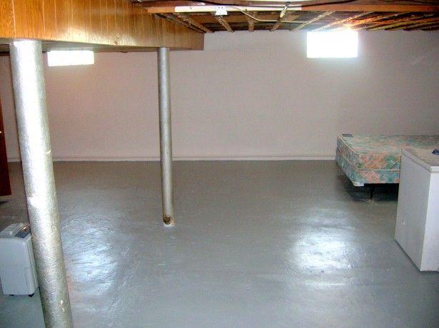 Brilliant Painting Basement Floor Ideas For Perfect Accent: Brilliant Painting Basement Floor Design With Rustic Ceiling ~ prsarahevans.com Advice Inspiration