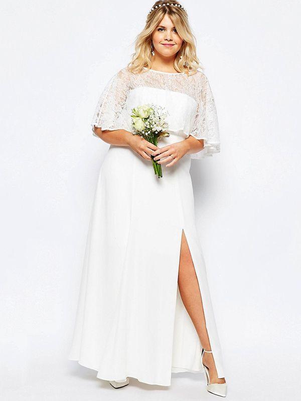 Vestidos de novia 'plus size' (tallas grande).                                                                                                                                                     Más