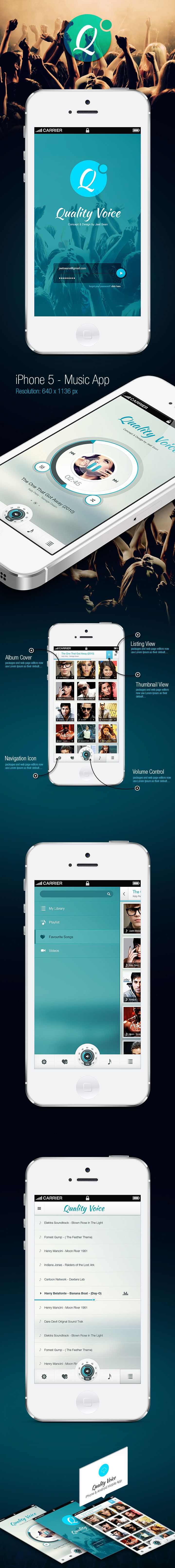 Quality Voice - Mobile App UI | #musicplayer