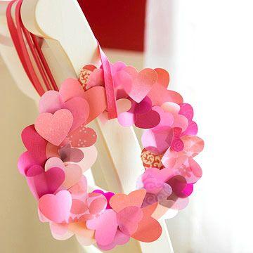 Heart paper wreath