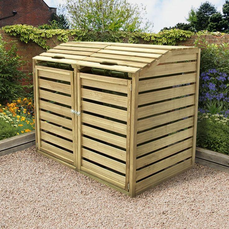 best 25 bin shed ideas on pinterest garbage storage trash can woodworking plans and bin. Black Bedroom Furniture Sets. Home Design Ideas