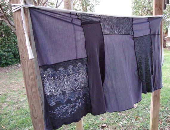 CUSTOM Wrap Skirt/ Upcycled T-Shirt Wrap Skirt/ Custom Clothing/Boho Skirt