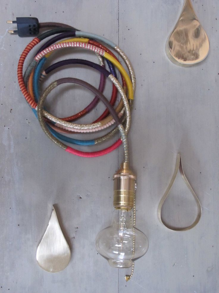 Lampe bohème / Wool bohemian lamp