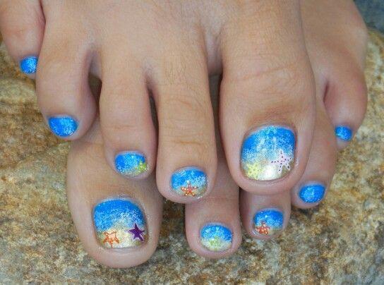 starfish pedicure summer