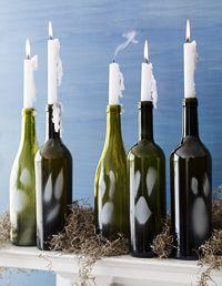 candle diy halloween bottles