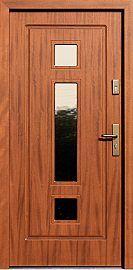 Drzwi zewnętrzne drewniane wzór 682,2 w kolorze ciemny dąb