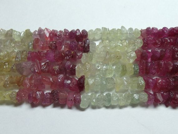 Natural Multi Sapphire Rough Chip Beads 6-9 MM by StarGemBeads
