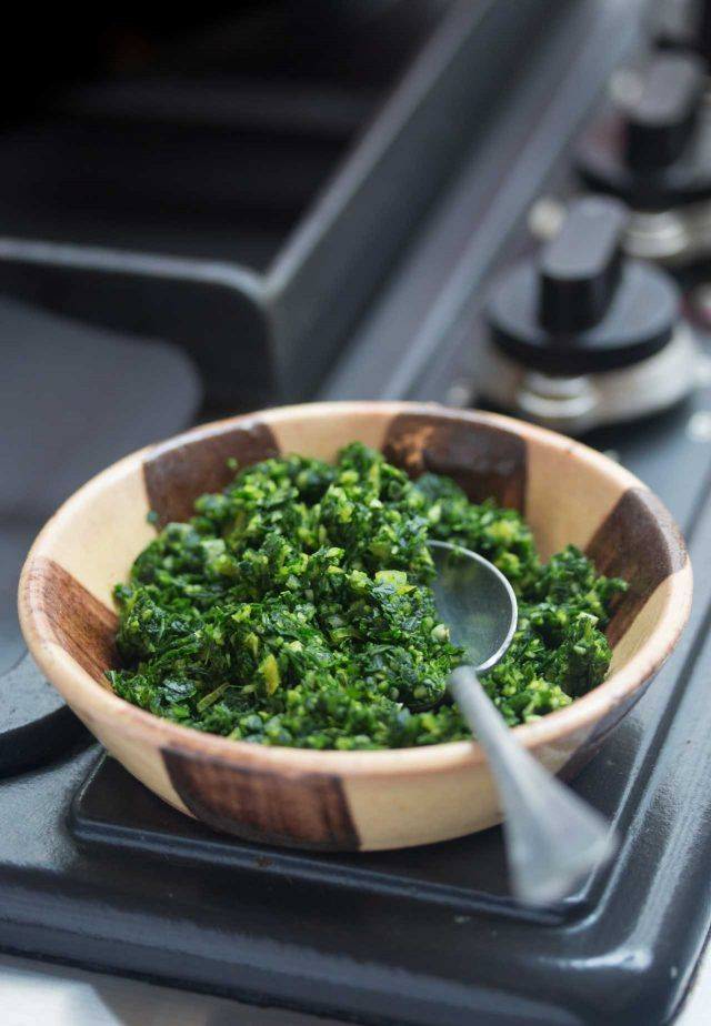 Parsley, garlic and lemon make up this delicious, brightly flavored, versatile condiment.