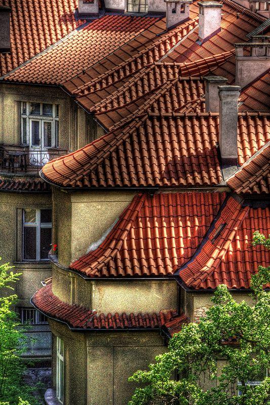 Houses in Podolí, Prague, Czechia #Prague #Czechia #VisitCzechia