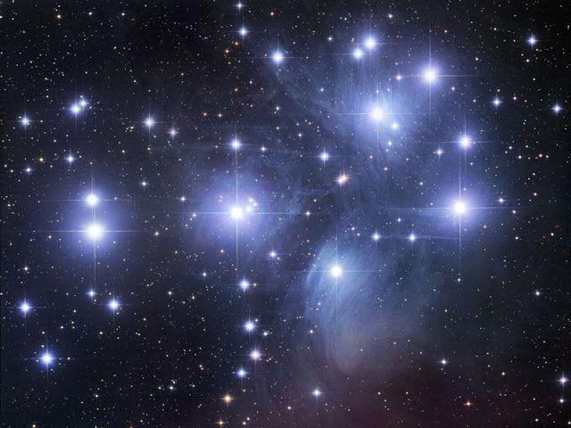 NINIVESKAL: Rozzářená obloha PLEIADES  Jízdní řády  vesmíru