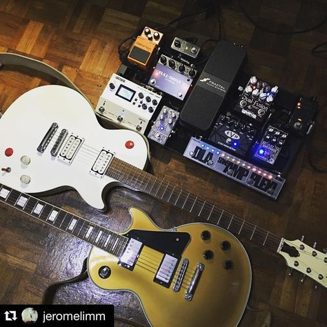 "Wampler Pedals en Instagram: ""Stress from debating which great tone he's going to use is a real thing. Sometimes it can be hard to choose when it all sounds excellent. #Wampler #pedals #tonecurtain #gearporn #DualFusion #guitar #Repost @jeromelimm ・・・ When you have a stressful job. #guitar #pedalboard #geartalk #digitech #gibson #boss #wampler"""