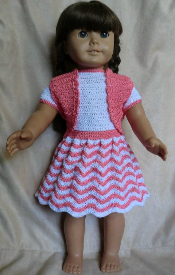 218 Chevron Outfit  Crochet Pattern  for American girl dolls