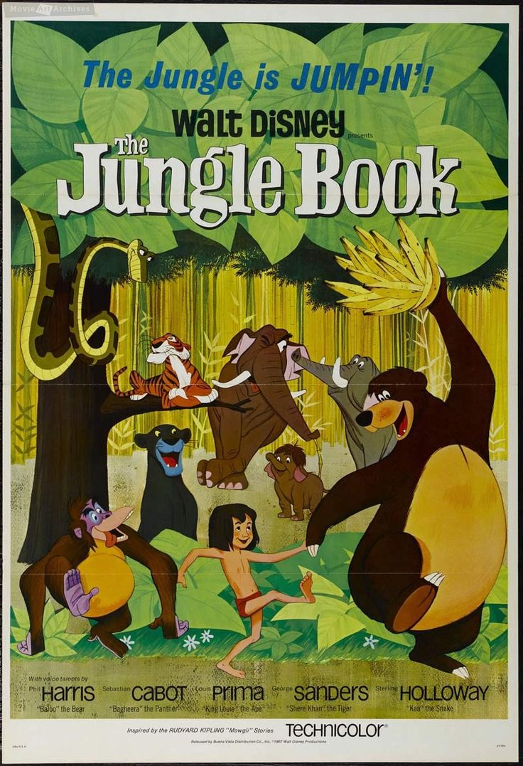 disney classic movie posters | ... The - 1967 - Original vintage USA Movie Poster - Walt Disney Classic