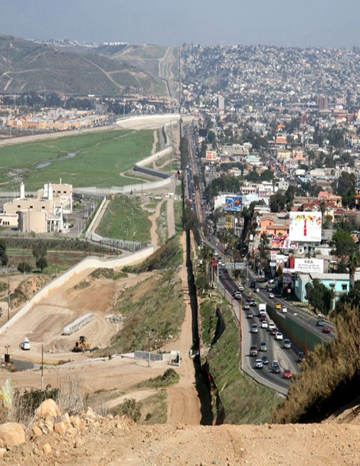 """U.S.- Mexico Border. between San Diego, California & Tijuana Mexico.                    The difference a """"Line"""" can make.."""