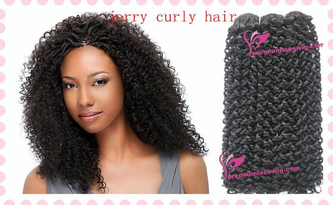 Indian Remy Jerry Curl Hair Weave Weft In Hair Extensions