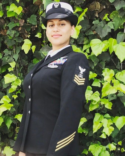 -NOVEMBER 2017-  PO1 Kenya Hernandez is a New Jersey native, who enlisted into the US Navy after graduating North Bergen High-school in 2002.  Kenya is currently serving her 6th duty station in Millington TN. There she is playing a dual role as a mom of 2 little boys who are 6yr and 1yr's old while their father is on deployment serving our country. Needless to say, her hands are full and her balancing act is unmatched....
