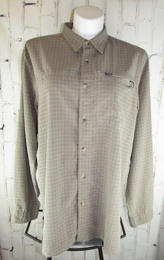 9d807f035 The North Face mens XXL 2X Long Sleeve Button Down Shirt Modal Poly ...