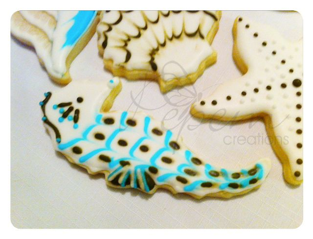 """Vanilla cookies with decorative almond icing and hand painted. Size 3"""""""