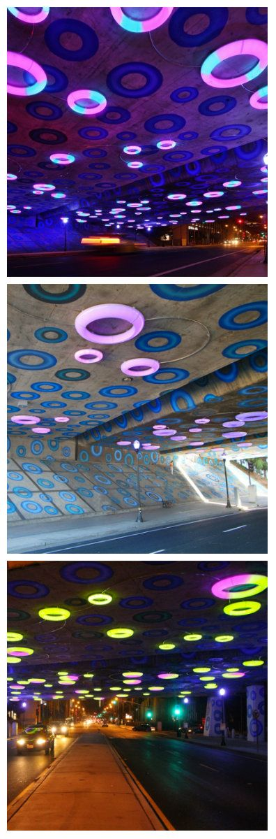 Краска, акрил, светодиоды, сталь, датчики, управление, интерфейс мобильного телефона – вот основные компоненты этой светодиодной инсталляции в Сан-Хосе. Ощутив ваше присутствие, интерактивные светодиодные светильники используют свет и их многообразие цветов, чтобы выделить главный въезд в город Сан-Хосе в Калифорнии. #светодиоды #освещение #подсветка #светодизайн #светильники #уличноеосвещение #светодиодныесветильники #светодиоднаяподсветка #светодиодноеосвещение #светодиодныйдекор