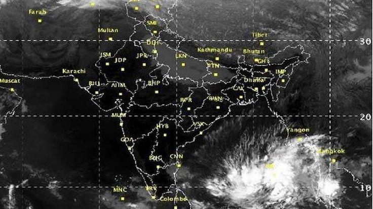 cyclone-vardah shown in map