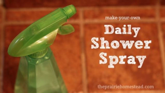 DIY Shower Cleaner Spray Ingredients: 1.5 cups water 1 cup white vinegar 1/2 cup rubbing alcohol 1 teaspoon liquid dish soap 15 drops lemon essential oil 15 drops melaleuca (tea tree) essential oil  Instructions: Mix all the ingredients together in a quart-sized spray bottle. Shake well, and spray onto shower surfaces every day after use.