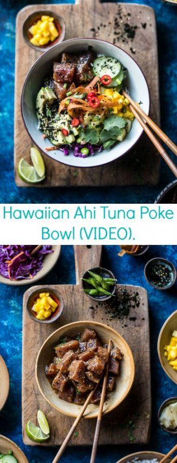Hawaiian Ahi Tuna Poke Bowl (VIDEO)   halfbakedharvest.com @hbharvest