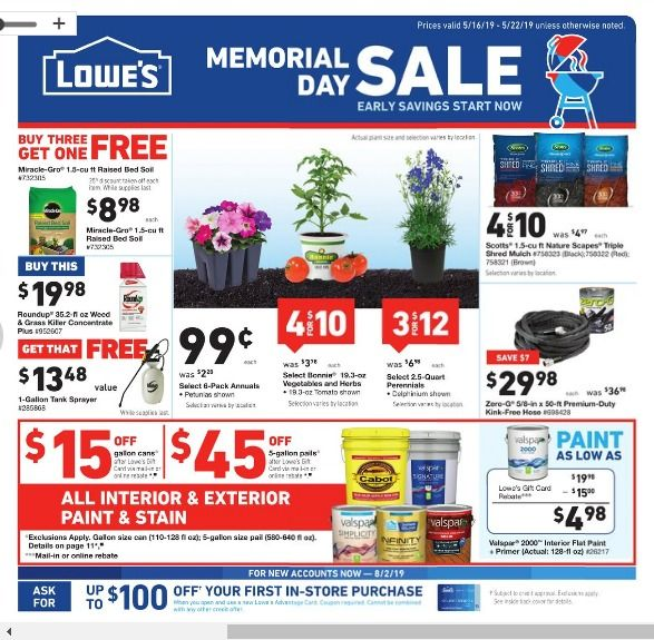 Lowes Memorial Day Sale 2020 038 Deals Ads 70 Off Appliances In 2020 Memorial Day Memorial Day Sales Lowes