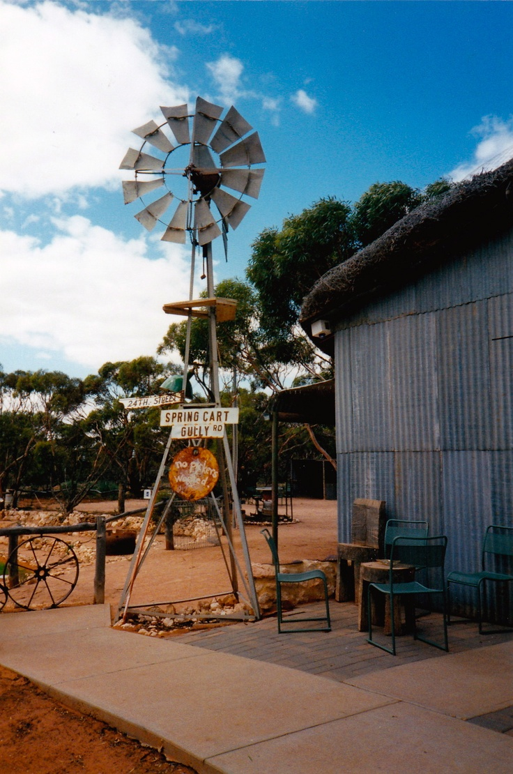 The Windmill in the yard at the Mallee Fowl Restaurant, Berri South Australia