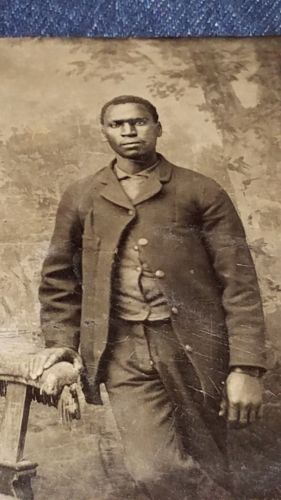 RARE-circa-1860-039-s-Tintype-of-a-Young-Black-African-American