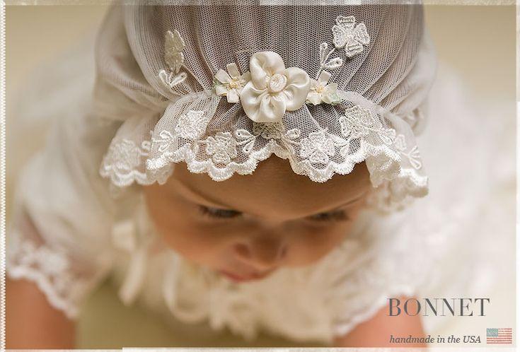 Caroline Christening Gown Bonnet