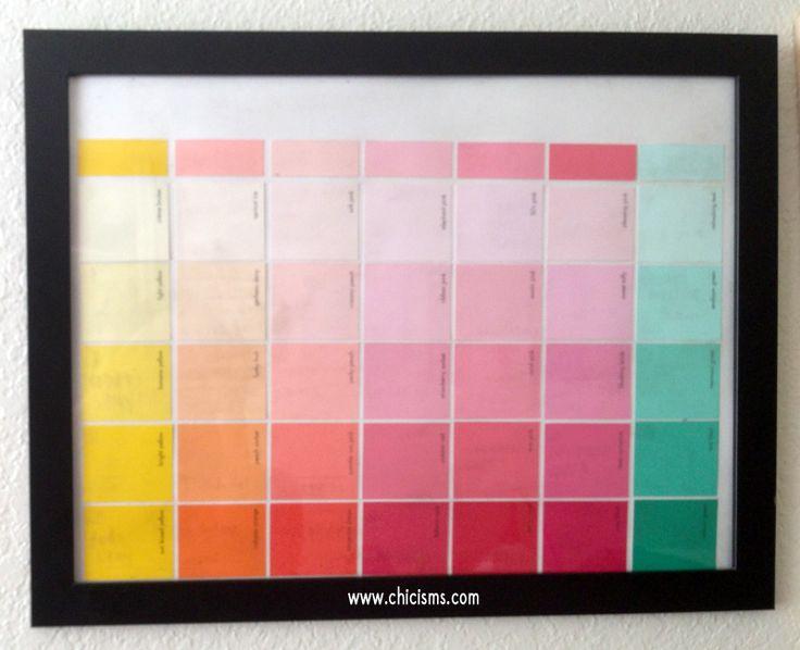 Ponad  Pomysw Na Temat Paint Sample Calendar Na Pinterecie
